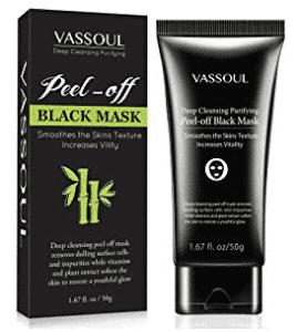 Blackhead Remover Mask, Peel Off Blackhead Mask, Blackhead Remover - Deep Cleansing Black Mask, Bamboo Activated Charcoal Peel-Off Mask by VASSOUL